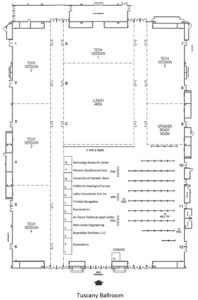 Peppermill Hotel Resort, Tuscany Ballroom - exhibit floor plan